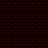 Seamless/Tileable black brick wall. Outlined in red. Horizontally and vertically seamless Royalty Free Stock Photos