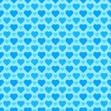 Seamless/Tileable blue hearts pattern. Seamless vector design. Seamless/Tileable blue hearts pattern. Horizontally and vertically seamless vector design Stock Image