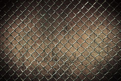 Seamless tileable chain link fence wall in background. Stock Photo