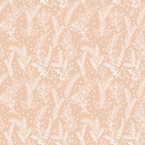 Seamless Tileable Christmas Holiday Floral Background Pattern. Vector Illustration Royalty Free Stock Photo