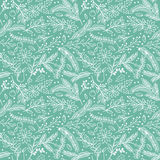 Seamless Tileable Christmas Holiday Floral Background Pattern. Vector Illustration Royalty Free Stock Image
