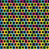 Seamless/Tileable colorful blocks pattern. Black centre. Seamless/Tileable colourful blocks pattern. Black centre. Horizontally and vertically seamless Stock Photography