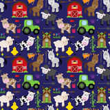 Seamless, Tileable Farm Animal and Barnyard Background Royalty Free Stock Photography