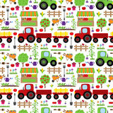 Seamless, Tileable Farming or Gardening Themed Vector Background Royalty Free Stock Photos