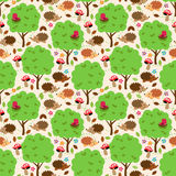 Seamless, Tileable Forest Animals Vector Background. Pattern vector illustration