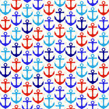 Seamless Tileable Nautical Themed Vector Background or Wallpaper Royalty Free Stock Image
