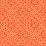 Seamless/Tileable orange overlapping circles pattern. Seamless/Tileable, orange, vector overlapping circles pattern. Horizontally and vertically seamless stock illustration