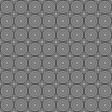 Seamless/Tileable overlapping black and white circles pattern. Horizontal and vertical tile Royalty Free Stock Image