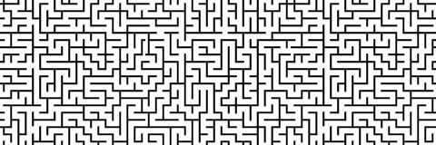 Seamless panorama maze pattern as a banner Royalty Free Stock Photo