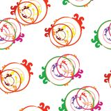 Seamless tileable pattern with abstract circles. In multiple colors vector illustration