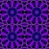 Modern Purple Seamless Floral Pattern royalty free stock photography