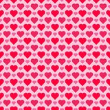 Seamless/Tileable red and pink hearts pattern. Horizontally and vertically seamless Stock Image