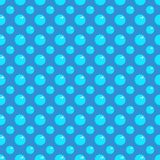 Seamless/Tileable simple blue bubbles pattern. Horizontally and vertically seamless design vector illustration