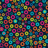 Seamless Tileable Vector Background with Gears Royalty Free Stock Photo