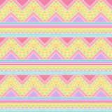 Seamless Tileable Vector Background in Pastel Tribal Style Stock Image