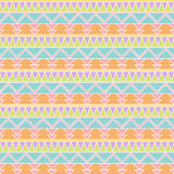 Seamless Tileable Vector Background in Pastel Tribal Style Royalty Free Stock Image