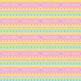 Seamless Tileable Vector Background in Pastel Tribal Style Royalty Free Stock Photo