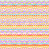 Seamless Tileable Vector Background in Pastel Tribal Style Royalty Free Stock Photography