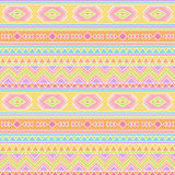 Seamless Tileable Vector Background in Pastel Tribal Style Stock Photography