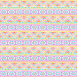 Seamless Tileable Vector Background in Pastel Tribal Style Stock Images