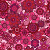 Seamless Tileable Vector Floral Background Royalty Free Stock Photos