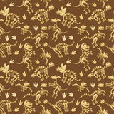 Seamless, Tileable Vector Pattern with Dinosaur Bones Royalty Free Stock Photo