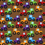 Seamless, Tileable Vector Tractor or Farm Themed Background Stock Photo