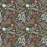 Seamless Tileable Vintage Floral Background Pattern Royalty Free Stock Images