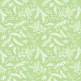 Seamless Tileable Vintage Floral Background Pattern Stock Images