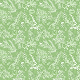 Seamless Tileable Vintage Floral Background Pattern Stock Photo
