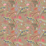 Seamless Tileable Vintage Floral Background Pattern Royalty Free Stock Photography