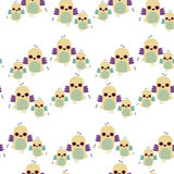 Seamless tiled pattern of birds Royalty Free Stock Photo