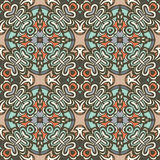 Seamless tiled pattern damask vector design Royalty Free Stock Photography