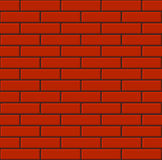 Seamless Tiled Red Brick Wall. Vector Royalty Free Stock Photography