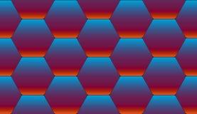 Seamless tiles from hexagons. Bright blue-red tiles of hexagonal tilesrSeamless pattern Stock Image