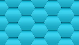 Seamless tiles from hexagons. Tiled seamless pattern of turquoise hexagonal tiles with volume effect Royalty Free Stock Photography