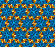 Seamless tiles in shape of hexagonal stars, seamless pattern, ve Stock Photos