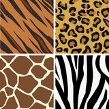 Seamless tiling animal print p royalty free illustration