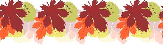 Seamless tiling autumn leaf border Stock Photo