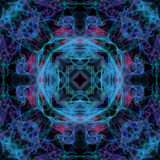 Seamless tiling blue pattern Stock Photography