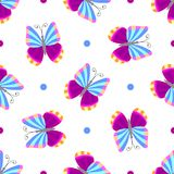 Seamless tiling butterfly texture Stock Photography