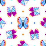 Seamless tiling butterfly texture Royalty Free Stock Image
