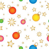 Seamless tiling Christmas pattern Royalty Free Stock Images