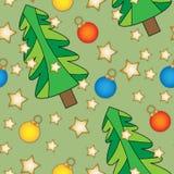 Seamless tiling Christmas texture Stock Photos