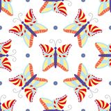 Seamless tiling butterfly pattern Stock Photos