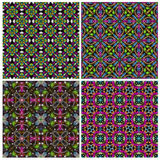 Seamless tiling colorful texture collection Stock Images