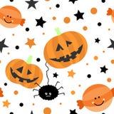 Seamless tiling Halloween texture Royalty Free Stock Photo