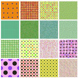 Seamless tiling dot pattern collection Stock Image