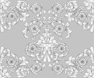 Seamless tiling floral wallpaper pattern Stock Images