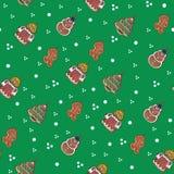 Seamless tiling gingerbread Christmas texture Stock Image